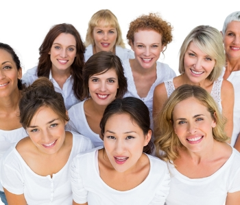 group of woman smiling and looking for answers