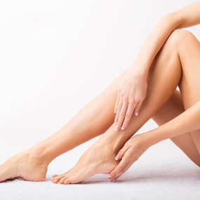 Shaved Woman Leg